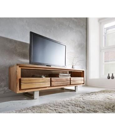 Televizní stolek Live 146 cm Akácie Přírodní 3 Šuplíky