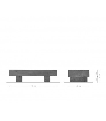 Konferenční stolek Harri 115x45 cm Akácie Přírodní