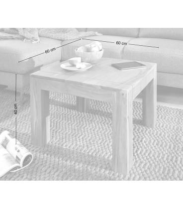 Konferenční stolek Vida 60x60 cm Akácie Přírodní
