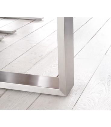 Jídelní stůl Live 180x90 cm Akácie Přírodní Deska 5.5 cm Nohy Úzké