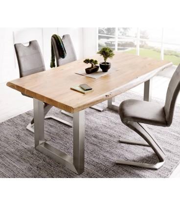 Jídelní stůl Live 180x90 cm Akácie Přírodní Deska 5.5 cm Nohy Široké