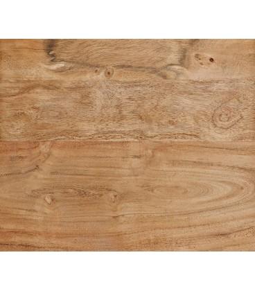Jídelní stůl Live 180x90 cm Akácie Přírodní Deska 5.5 cm Nohy Šikmé Černé