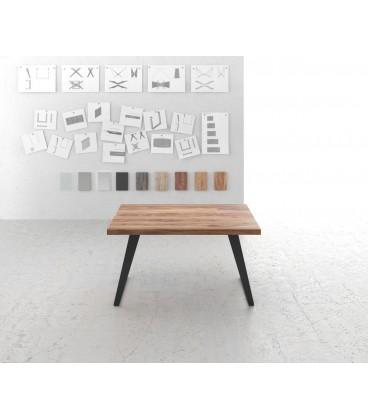 Jídelní Stůl Classic 140x90 Sheesham Nohy Šikmé Černé