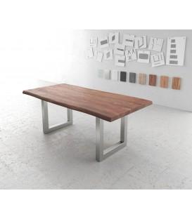 Jídelní stůl Live 200x100 cm Akácie Hnědá Deska 5.5 cm Nohy Široké