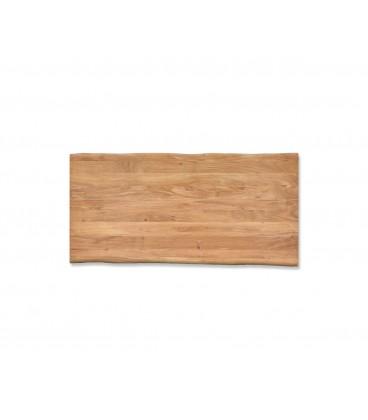 Jídelní stůl Live 200x100 cm Akácie Přírodní Deska 5.5 cm Nohy Úzké