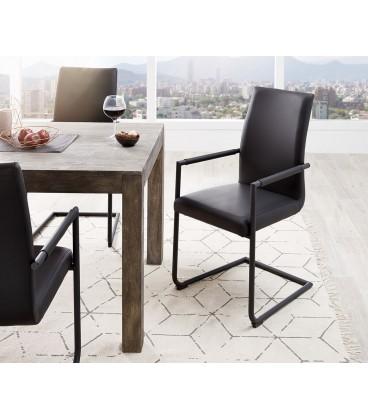 Jídelní Židle Haan Černá s Opěrkami Kov