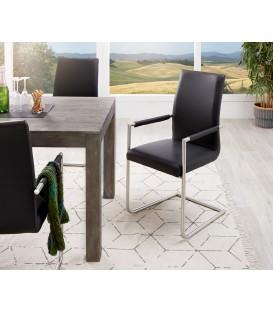 Jídelní Židle Haan Černá s Opěrkami Nerez