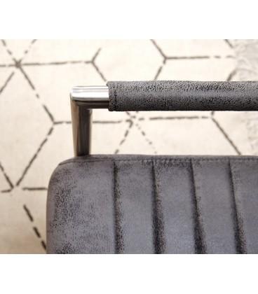 Jídelní Židle Haan Šedá Vintage s Opěrkami Nerez