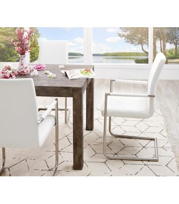 Jídelní Židle Haan Bílá s Opěrkami Nerez