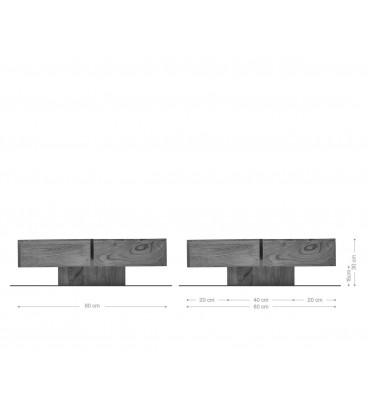 Konferenční Stolek Toca 80x80 cm Akácie Hnědá Masiv