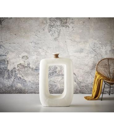 Váza Čtvercová s Otvorem 104x65 Beton Bílý