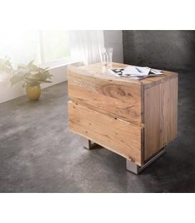 Noční stolek Live 59x42 cm Akácie Přírodní 2 Šuplíky