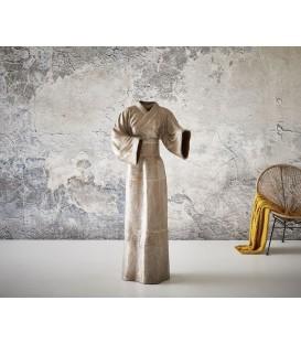 Hliníková Figura Kabát Hnědostříbrná