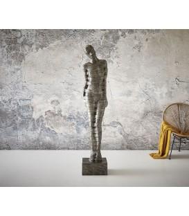 Hliníková Figura Timbul 188x37 cm Černo-Stříbrná