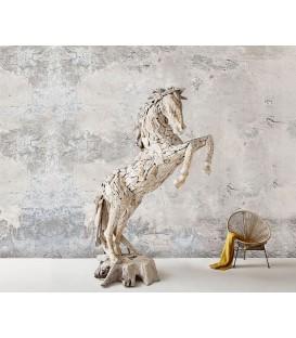 Postava Koně 120x194x275 cm Teak Bílý