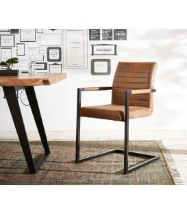 Jídelní Židle Next Hnědá Vintage s Opěrkami Kov