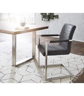 Jídelní Židle Next Antracit Vintage s Opěrkami Nerez