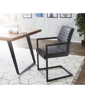 Jídelní Židle Next Antracit Vintage s Opěrkami Kov
