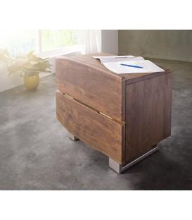 Noční stolek Live 59x42 cm Akácie Hnědá 2 Šuplíky