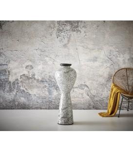 Váza Merma 100x36 cm Beton Černo-Bílý