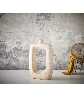 Váza Čtvercová s Otvorem 104x65 Beton Bělený