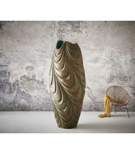 Váza Vlna 220x89 Beton Zelený