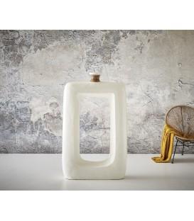 Váza Čtvercová s Otvorem 148x89 Beton Bílý