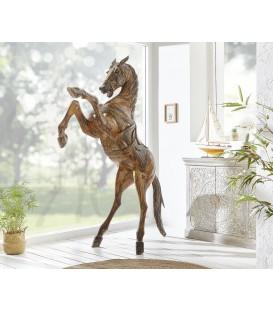 Dekorativní Objekt Kůň 160 cm Starožitná Albízie