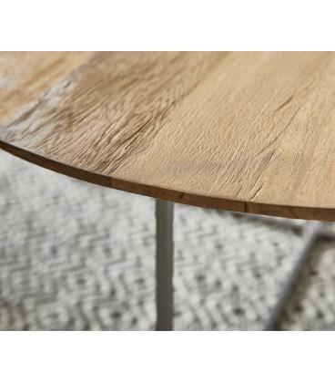 Konferenční Stolek Leo 80x80 cm Exotické Dřevo Přírodní