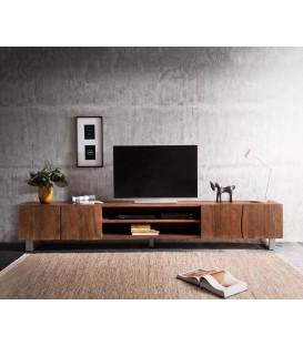 Televizní stolek Live 300 cm Akácie Hnědá 4 Dvířka 2 Fochy