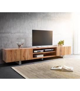 Televizní stolek Live 300 cm Akácie Přírodní 4 Dvířka 2 Fochy