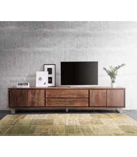 Televizní stolek Live 300 cm Akácie Hnědá 4 Dvířka 2 Šuplíky
