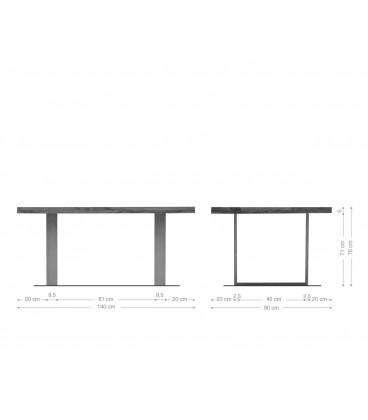 Jídelní Stůl Classic 140x90 Akácie Hnědá Nohy Úzké