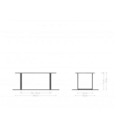Jídelní Set Adesa 180x90 Vzhled Dubu Hrana Stromu + 4 Židle Taupe Vintage