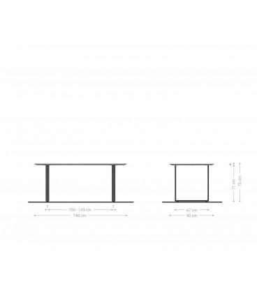 Jídelní Set Adesa 180x90 Vzhled Beton Švýcarská Hrana + 4 Židle Antracit Vintage