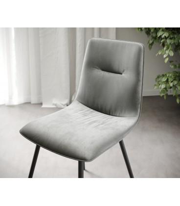 4-Dílný Set Jídelní Židle Mia-Adesa Světle Šedá 4 Kónické Nohy
