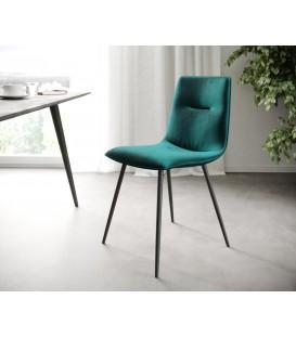 4-Dílný Set Jídelní Židle Mia-Adesa Petrol 4 Kónické Nohy