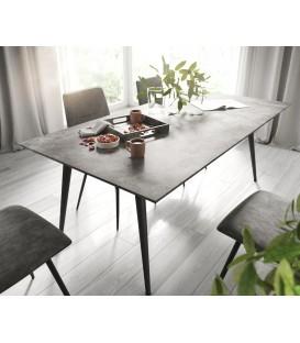 Jídelní Stůl Adesa 180x90 Vzhled Betonu Švýcarská Hrana 4 Kónické Nohy