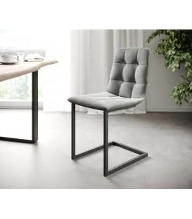 4-Dílný Set Jídelní Židle Karo-Adesa Světle Šedá Houpací