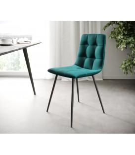 4-Dílný Set Jídelní Židle Karo-Adesa Petrol 4 Kónické Nohy