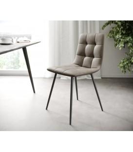 4-Dílný Set Jídelní Židle Karo-Adesa Taupe Vintage 4 Kónické Nohy