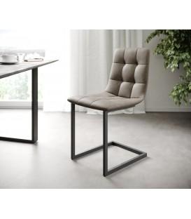 4-Dílný Set Jídelní Židle Karo-Adesa Taupe Vintage Houpací