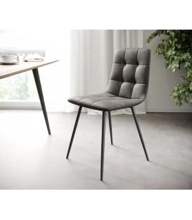 4-Dílný Set Jídelní Židle Karo-Adesa Antracit Vintage 4 Kónické Nohy