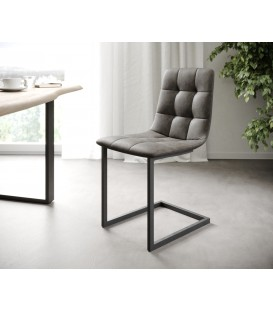 4-Dílný Set Jídelní Židle Karo-Adesa Antracit Vintage Houpací
