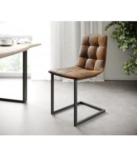 4-Dílný Set Jídelní Židle Karo-Adesa Hnědá Vintage Houpací