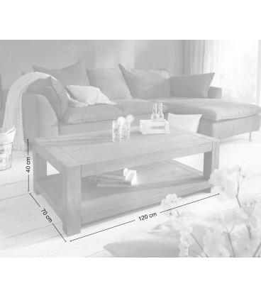 Konferenční stolek Vida 120x70 cm Akácie Hnědá 1 Foch