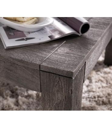 Konferenční stolek Vida 80x80 cm Akácie Platina