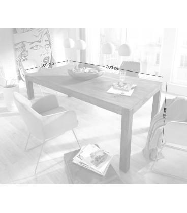 Jídelní Stůl Vida 200x100 cm Akácie Platina Massiv