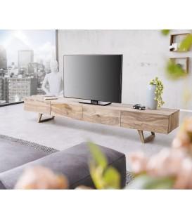 Televizní Stolek Viat 220 cm Sheesham Přírodní 4 Šuplíky
