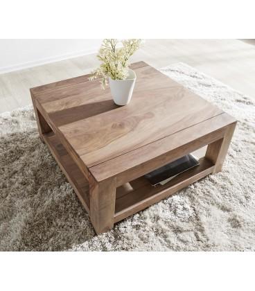 Konferenční stolek Vida 80x80 cm Sheesham Přírodní 1 Foch